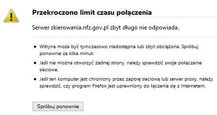 nie działa skierowania.nfz.gov.pl/