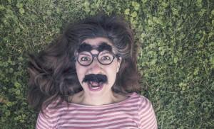 kobieta w wąsach