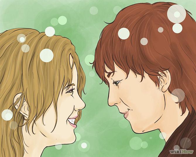 Wysyłaj subtelne sygnały drugiej osobie, dając jej do zrozumienia, że zależy Ci na pocałunku.