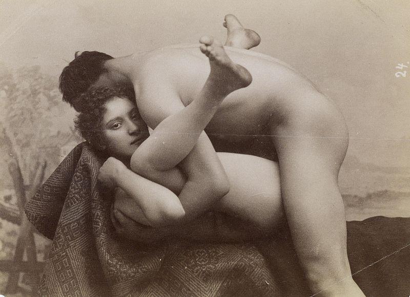 Zdjęcie Erotische Aufnahme z 1880 roku. Źródło: Dorotheum, Autor: Anonimowy