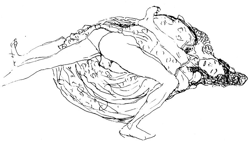 Seks w pozycji misjonarskiej, Gustav Klimt.