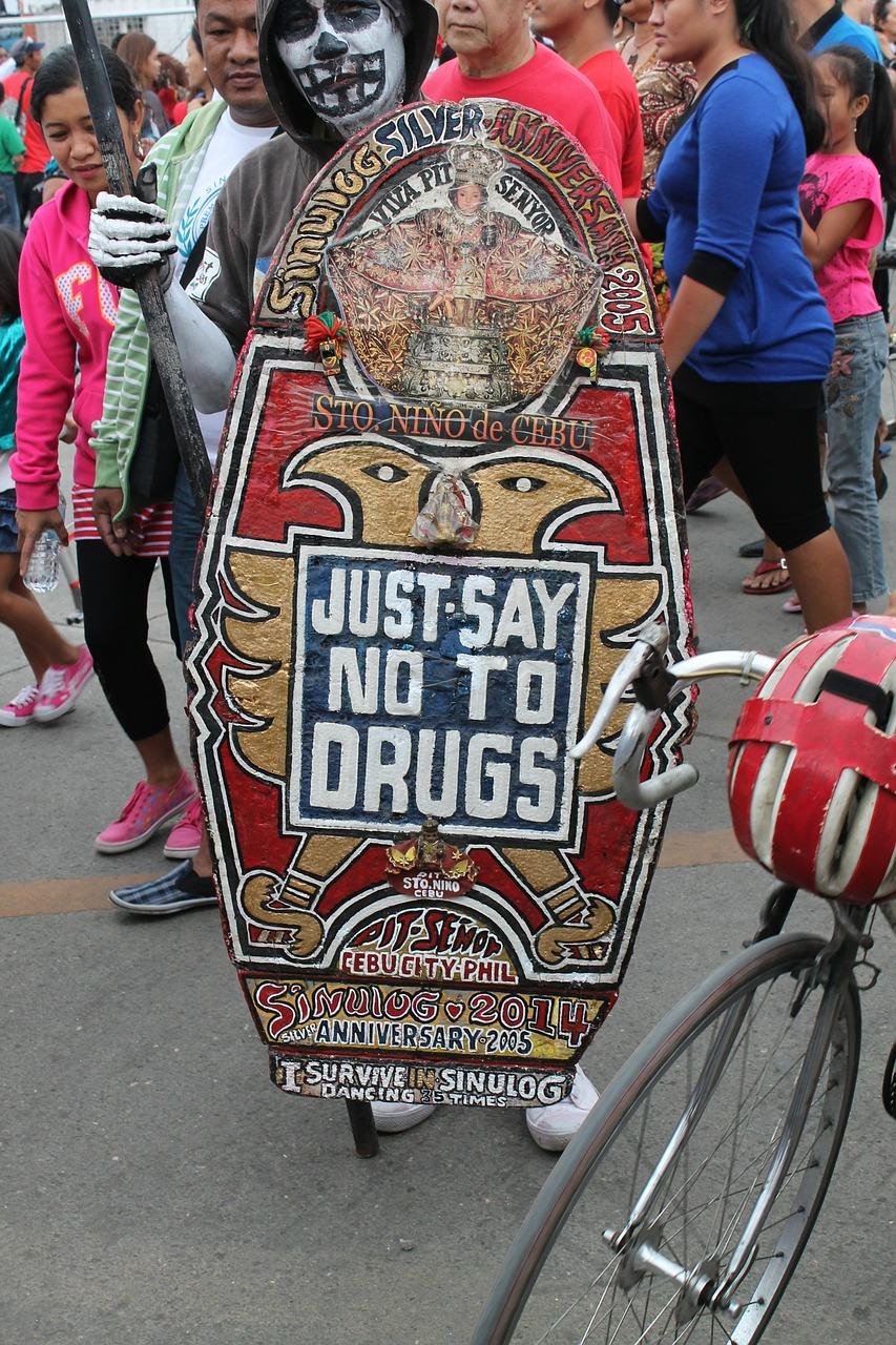 Powiedz nie narkotykom. Demonstracja